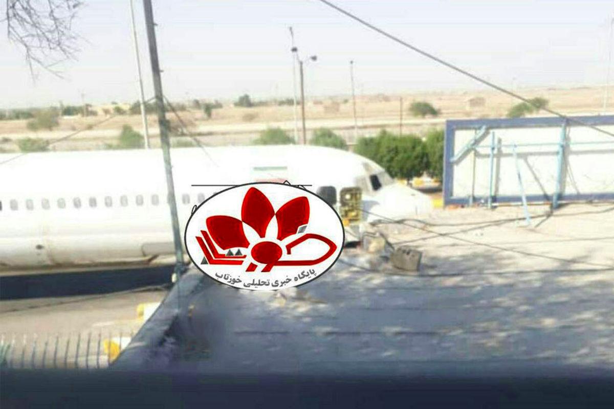 فرود اضطراری یک هواپیما مسافربری در نزدیکی پلیس راه اندیمشک + عکس