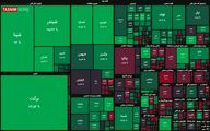 شاخص بورس ارتفاع ۱.۲ میلیون واحد را پس گرفت + نقشه بازار بورس