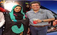عکس قدیمی رضا رشیدپور در کنار خانم بازیگر