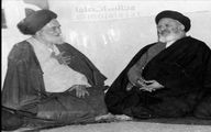 عکس دیده نشده از آیتالله موسوی اردبیلی و شهید مدنی