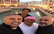 """تصویری از حمید فرخ نژاد در پشت صحنه """"لاتاری"""""""