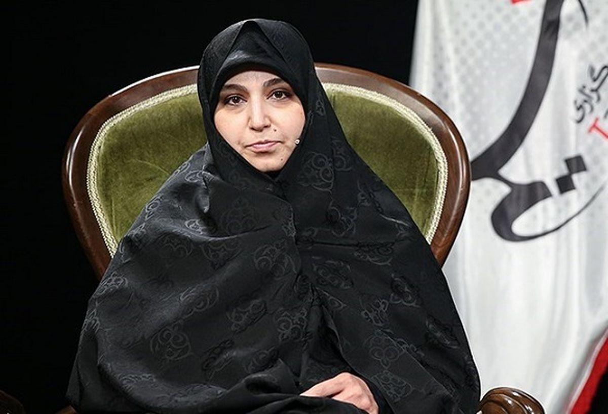 حضور «نرجس سلیمانی» دختر شهید سلیمانی در حرم حضرت عبدالعظیم