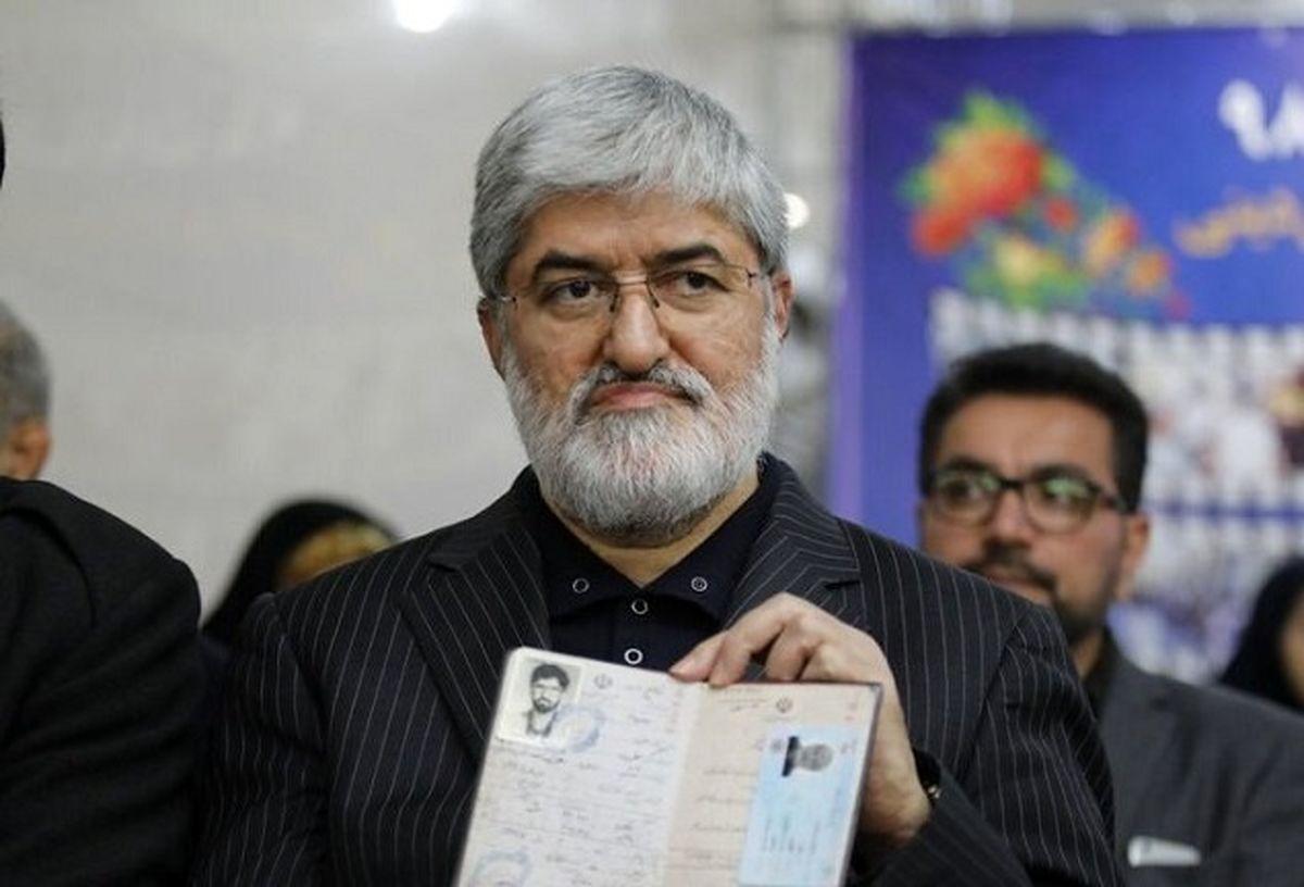 علی مطهری وارد ستاد انتخابات شد