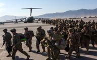 صف خروج سربازان آمریکایی از پایگاه بگرام افغانستان
