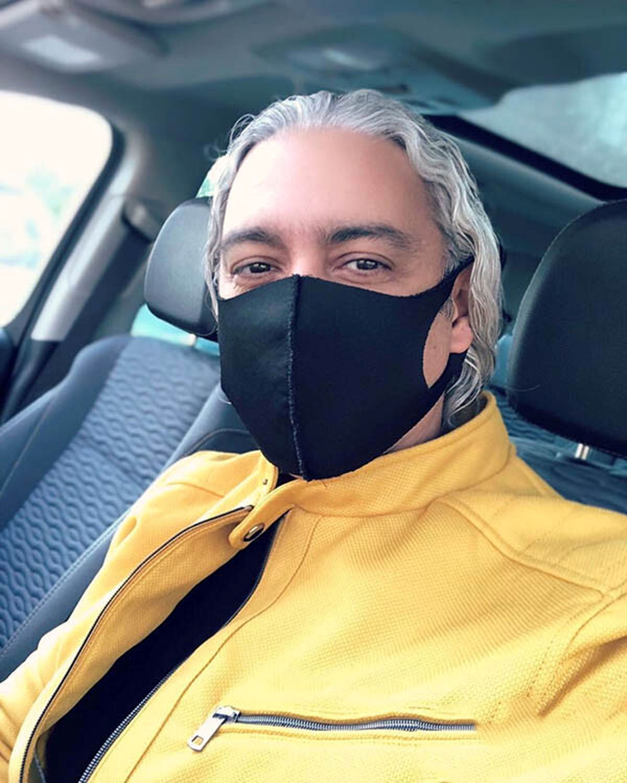 ماسک برعکس مازیار فلاحی جنجالی شد +عکس دیده نشده