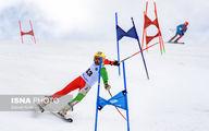 تصاویری دیدنی و جذاب از مسابقات اسکی آلپاین در پیست دیزین