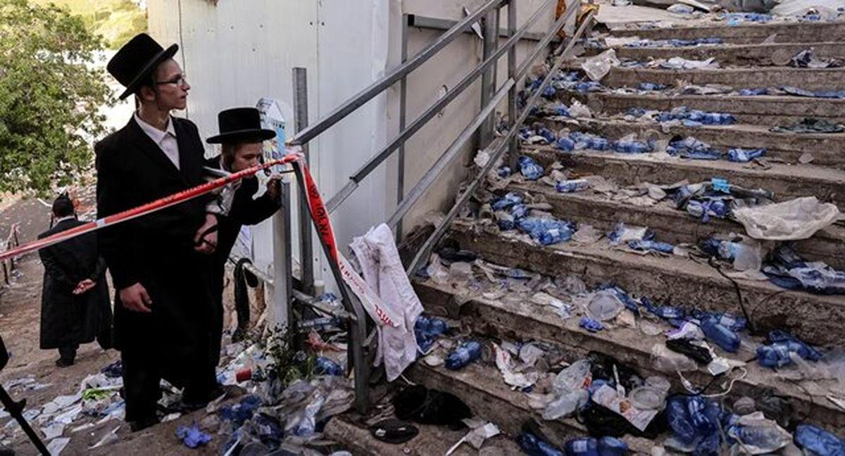 سردادن شعارها علیه نتانیاهو در هنگام بازدید از مکان فاجعه مراسم مذهبی یهودیان