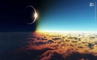 تصاویری از خورشید گرفتگی در فضا