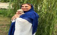 مرجانه گلچین و حیوان خانگی اش + عکس