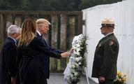 ترامپ و همسرش در مراسم يادبود قربانيان 11سپتامبر + عكس