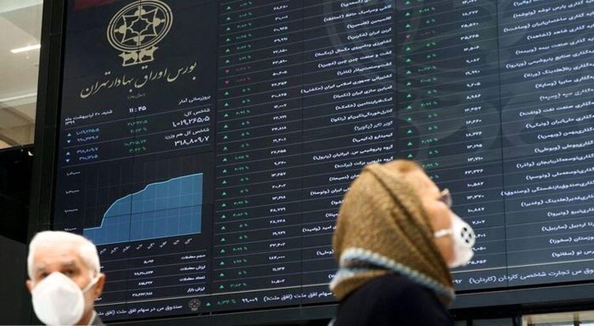 رشد ۸ هزار واحدی شاخص بورس + نقشه بازار بورس