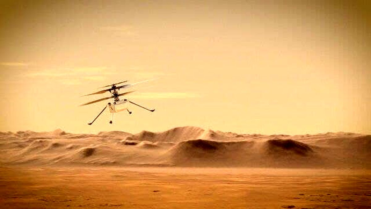 عکس بالگرد فضایی ناسا بر آسمان مریخ