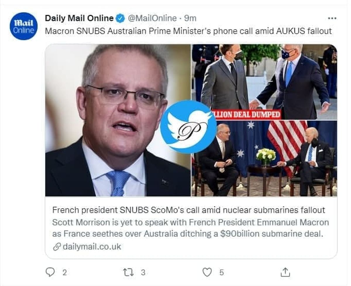 مکرون نخستوزیر استرالیا را تحویل نگرفت