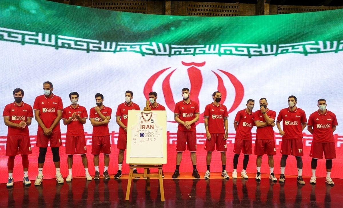 مراسم بدرقه تیم ملی بسکتبال ایران به المپیک توکیو