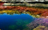 رودخانه عجیب پنج رنگ!عکس