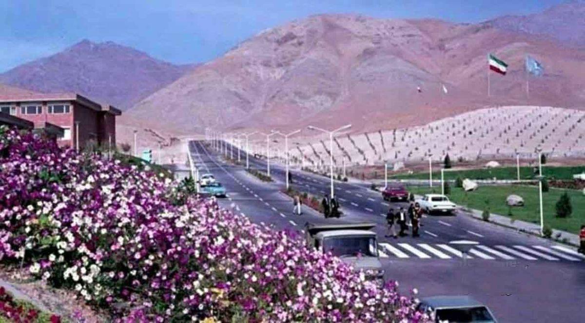 عکسی دیدنی از خیابان داشگاه شهید بهشتی(ملی) تهران 50 سال پیش