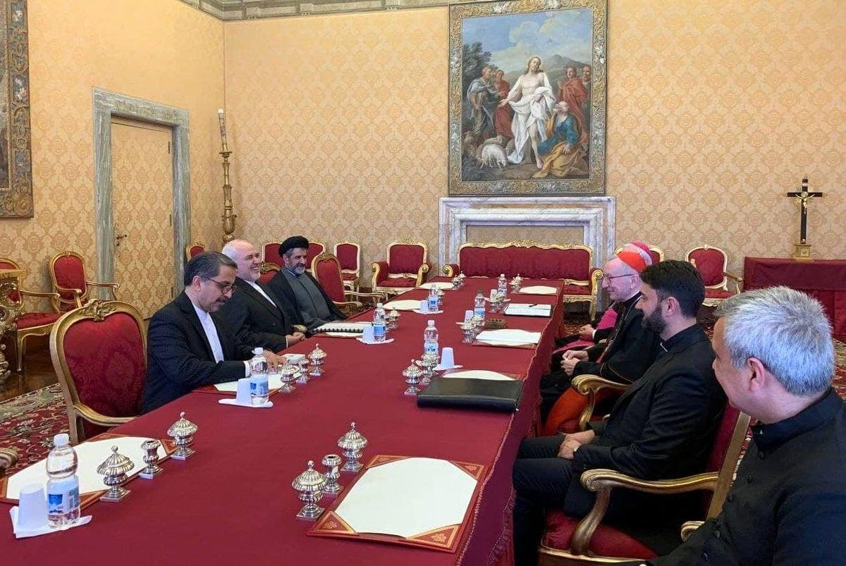 عکس دیدار ظریف با پاپ و نخست وزیر در واتیکان