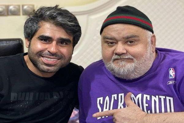 شباهت مثال زدنی اکبر عبدی و نوه بانمکش | عکس جشن تولد اکبر عبدی در کنار خانواده