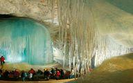 بزرگترین غار یخی جهان به طول 42 کیلومتر|عکس