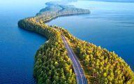 پلی بی نظیر ساخته طبیعت وسط دریا