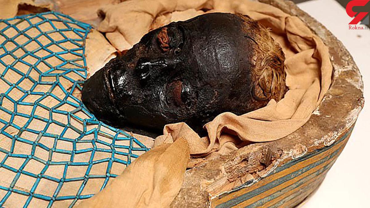عکس جالب جنازه زن موردعلاقه فرعون پس از 2600 سال / ضربه تبر به کمر!