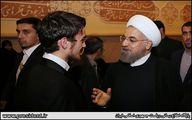 خوش و بش روحانی با پسر سیدحسن خمینی/ عکس