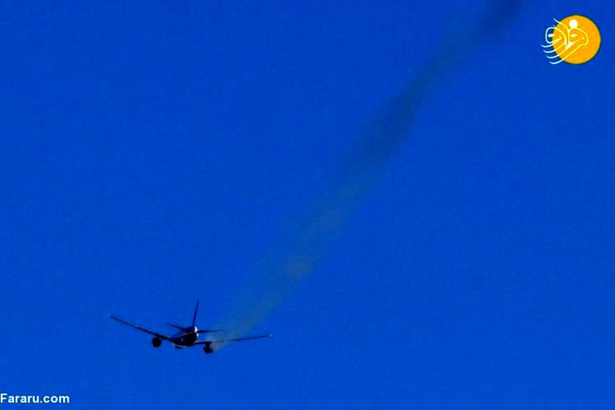 سقوط قطعاتی از موتور هواپیمای مسافربری بر روی منازل مسکونی! +عکسها