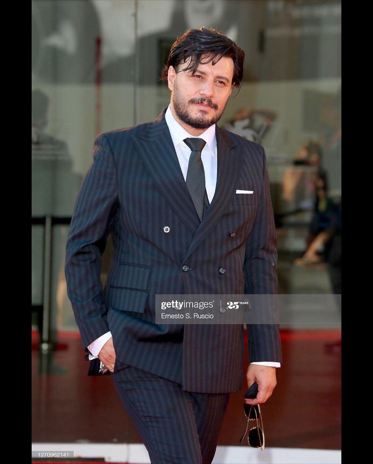 تیپ جالب جواد عزتی در جشنواره ونیز + عکس