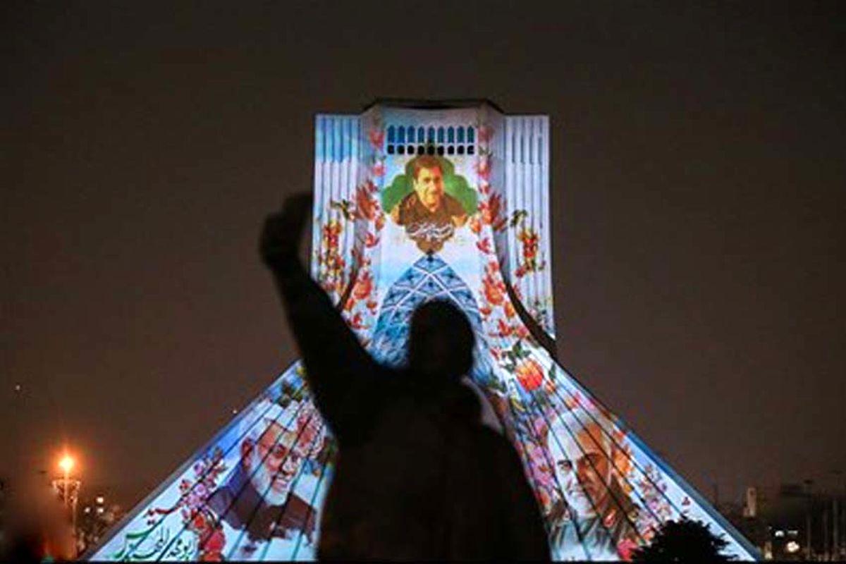 تصاویری زیبا از نورپردازی برج آزادی