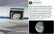 جدیدترین خبر ناسا از وجود آب روی ماه +عکس