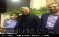 محسن حکیم در کنار سردارسلیمانی/عکس