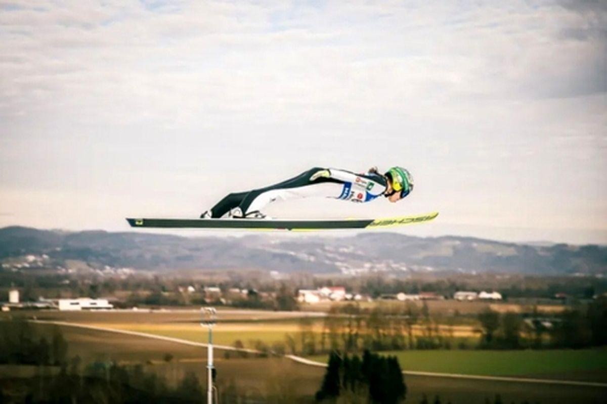 پرش زنان در مسابقات جهانی اسکی در اتریش+عکس