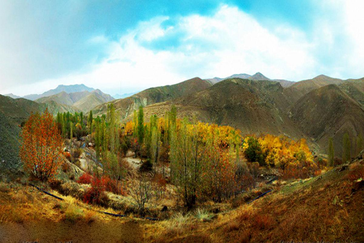 عکس زیبا از دره عالم زمین روستای اغشت