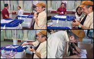 شرکت داریوش مهرجویی در انتخابات/عکس