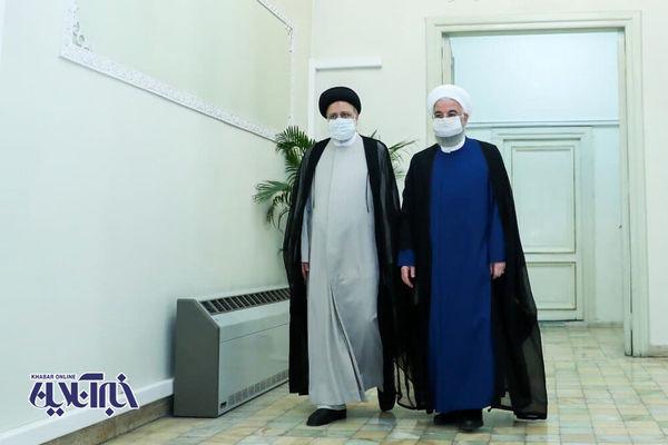 تصاویر حضور روحانی در قوه قضائیه برای تبریک به رئیسی