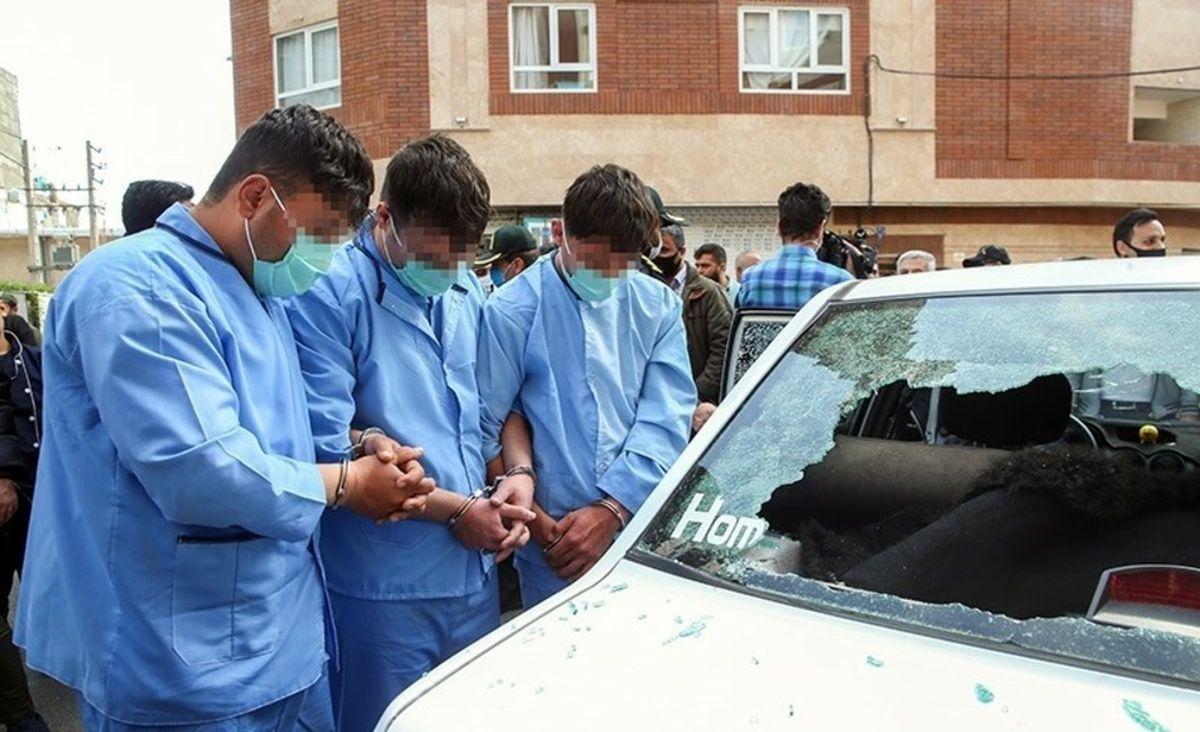 تصاویر دیده نشده از دستگیری اراذل و اوباش محله فلاح