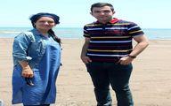 تصویری از مهناز افشار در کنار ساحل