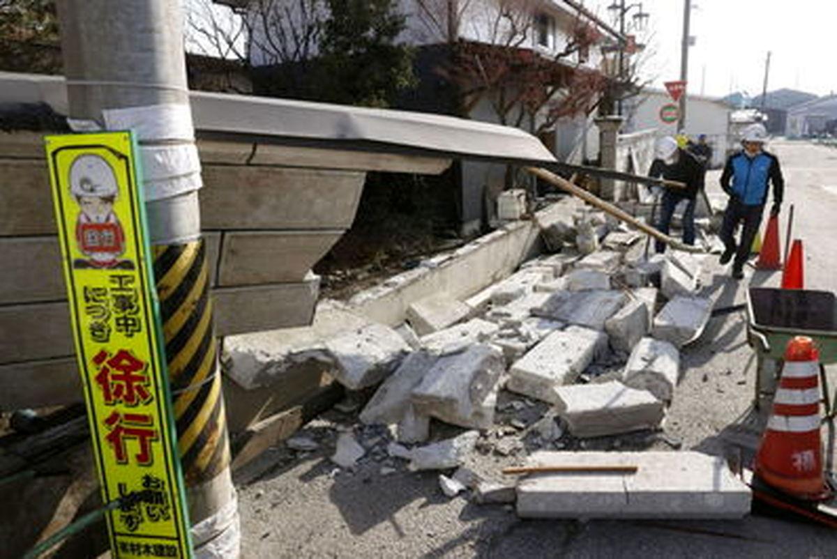 عواقب زمین لرزه در استان فوکوشیمای ژاپن+عکسها