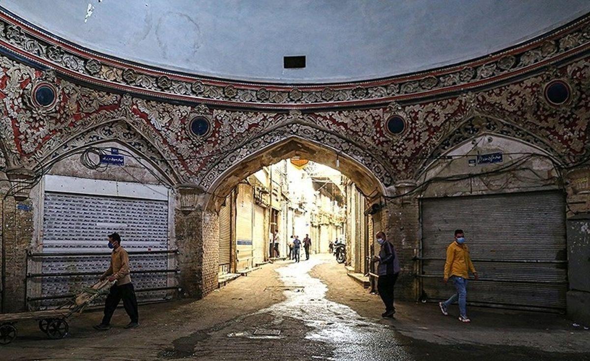 تعطیلی بازار تهران در موج چهارم کرونا+عکسها