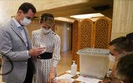 بشار اسد و همسرش سر میز انتخابات + عکس
