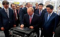 حضور پوتین در کارخانه خودروسازی مزدا / تصاویر