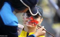 تصاویر دیده نشده از ابتکار عجیب زنان بدنساز در تهران؛ نقاشی به جای ماسک