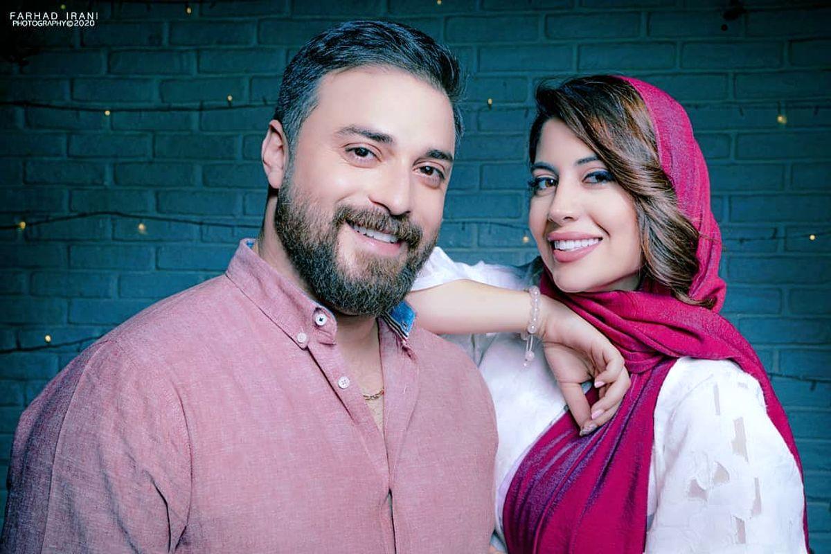 عکس بابک جهانبخش با همسر جان