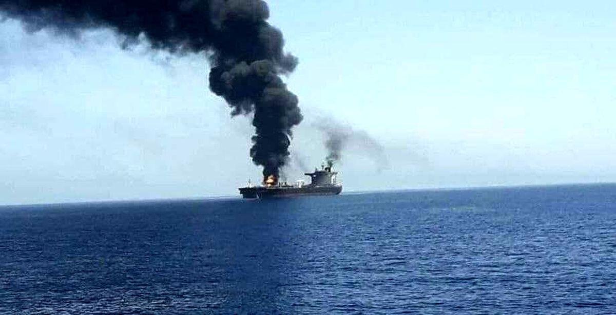 نخستین تصویر از کشتی اسرائیلی هدف قرار گرفته در مسیر امارات