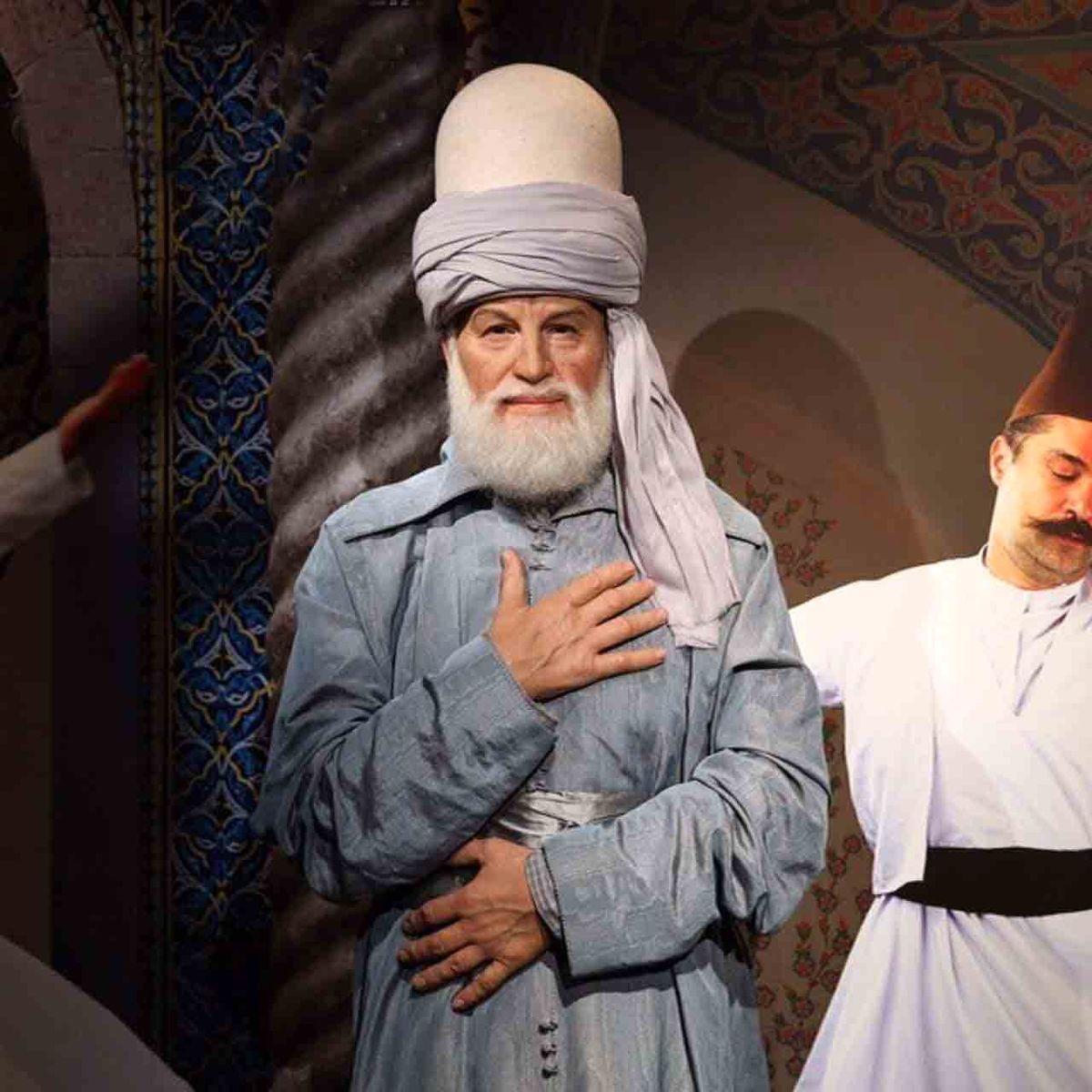 تندیس مولانا که نزدیکترین چهره به واقعیت را دارد