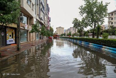 سیلاب در رشت