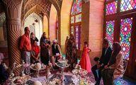 سفره عقد یک آلمانی در مسجد نصیرالملک شیراز