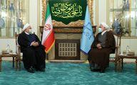 عکس دیدار روحانی با محسنی اژهای رئیس جدید قوه قضائیه