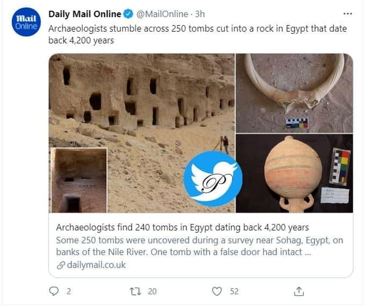 تصویر مقبرههای عجیب جدید با قدمت 4200 سال