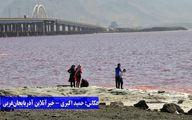 تصاویر هجوم مردم به دریاچه ارومیه
